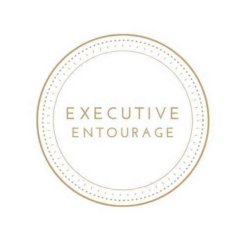 Logo - Executive Entourage Gold with transparent white background